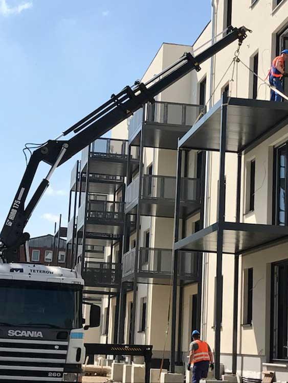 Balkon Und Balkonanlagen Als Stahlkonstruktion